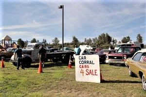 Car corral area at Watson Lake Show